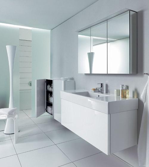 Arredobagno delos bianco laccato duravit - Bagno moderno bianco ...