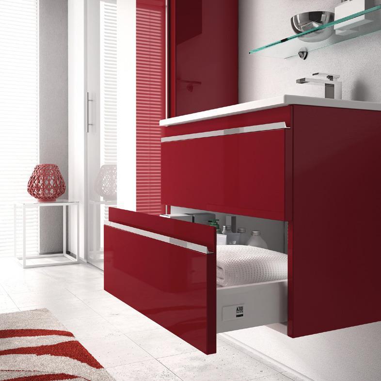 Arredobagno mistral laccato rosso lucido ideagroup - Arredo bagno rosso ...