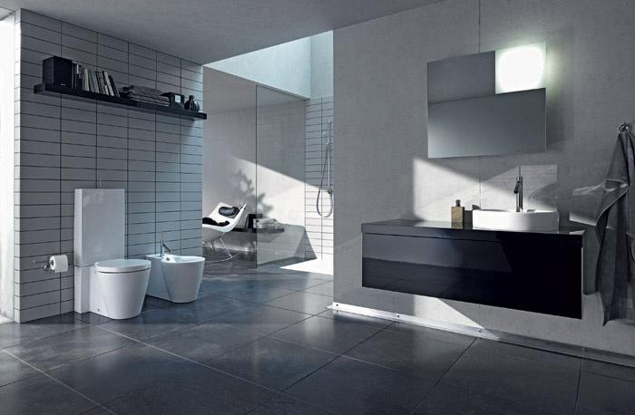 Piastrelle bagno nere cool piastrelle bagno nere with - Piastrelle nere per bagno ...