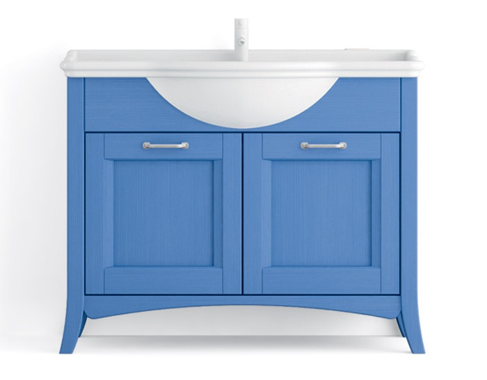Base per mobile da bagno con piano integrato scandola