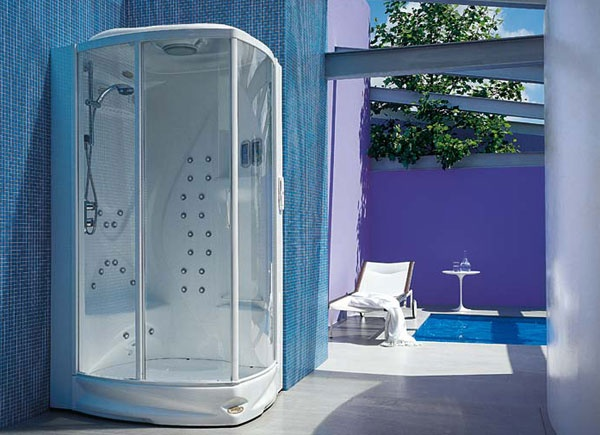 Box doccia con idromassaggio flexa thema 120 jacuzzi for Box doccia con idromassaggio