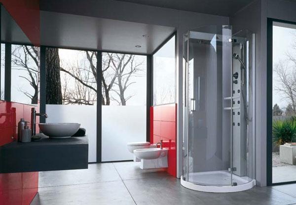 Box doccia con idromassaggio mynima sphere jacuzzi