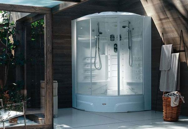 Box doccia multifunzione con idromassaggio flexa double jacuzzi