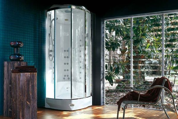Box doccia multifunzione con idromassaggio flexa square platinum