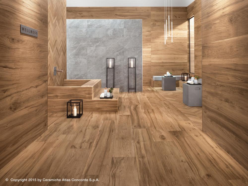 Gres porcellanato effetto legno etic pro rovere venice atlas concorde - Bagno finto legno ...