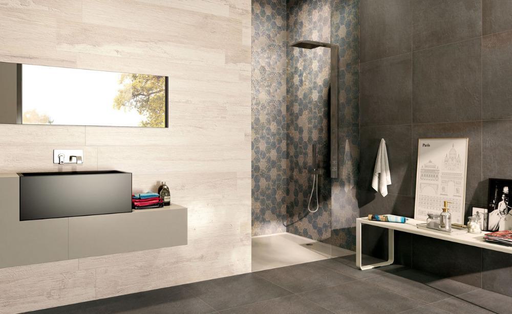 Gres porcellanato effetto legno remake white ceramiche - Piastrelle effetto legno per bagno ...