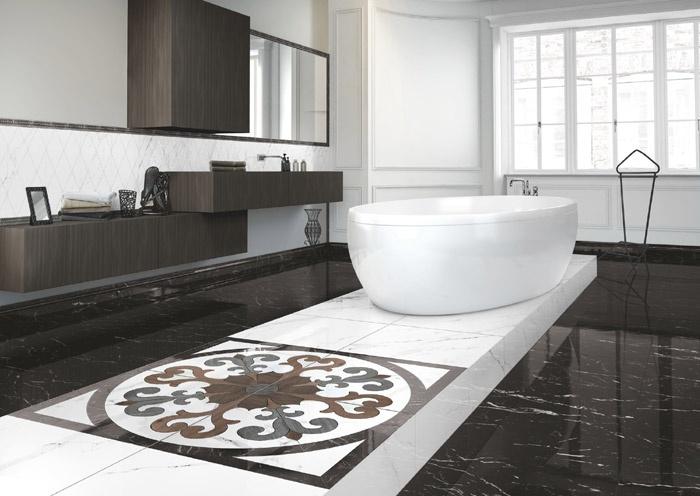 Gres porcellanato effetto marmo marmoker 2 casalgrande padana - Bagno effetto marmo ...