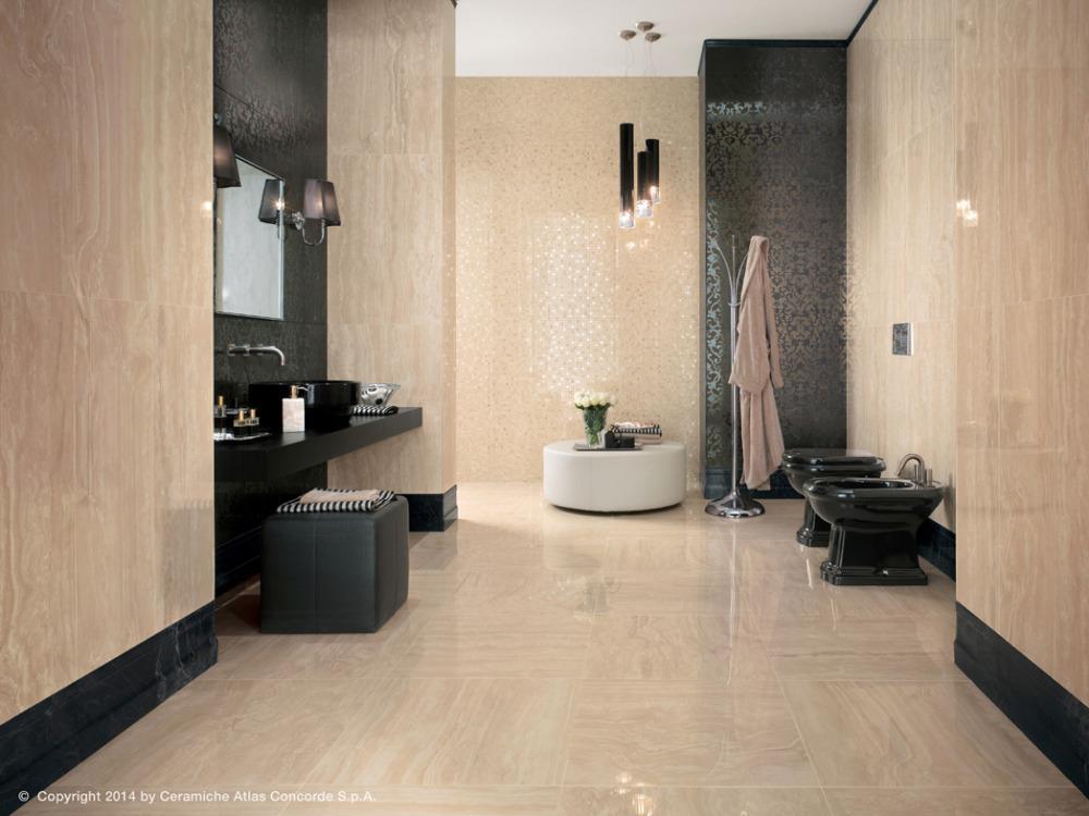 Gres porcellanato effetto marmo marvel pro travertino alabastrino atlas concorde - Atlas concorde bagno ...