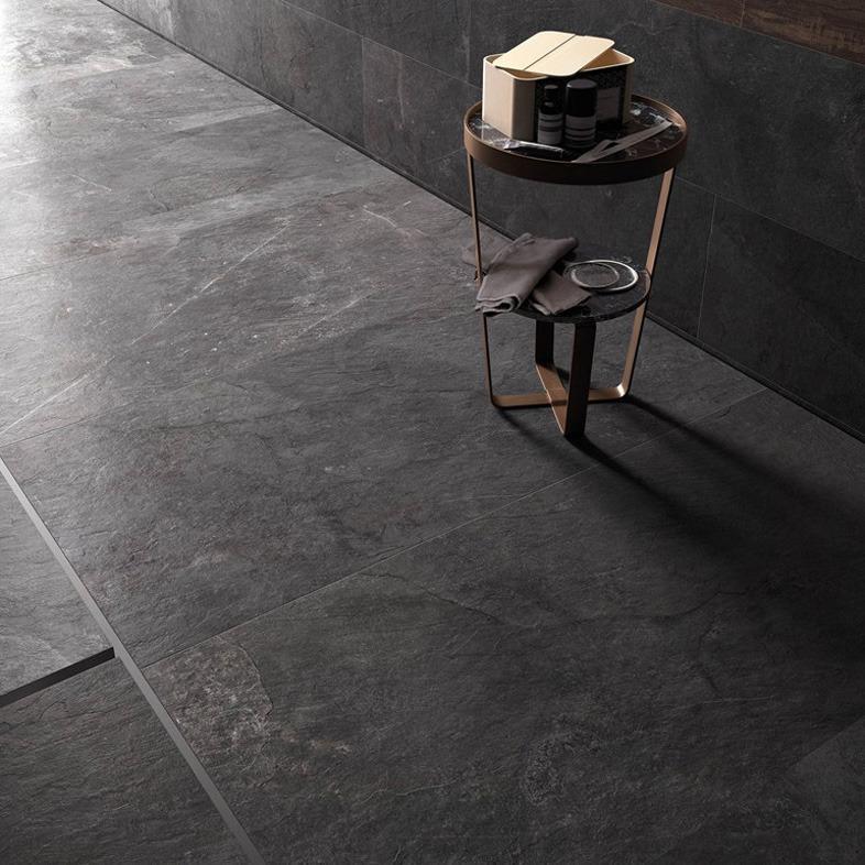 Gres porcellanato effetto pietra stonework ardesia nera - Piastrelle ardesia ...