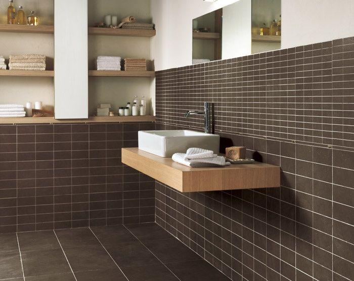 Bagno Marrone Scuro : Piastrelle bagno marrone scuro design della casa