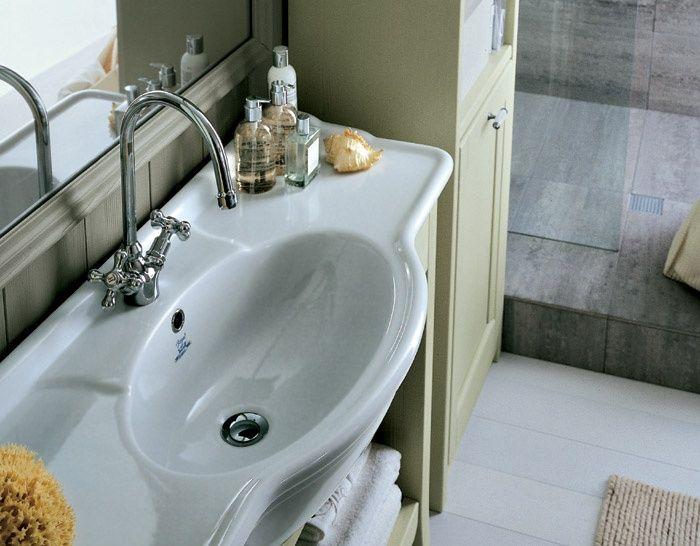 Vasca Da Bagno Incasso Ceramica : Lavabo in ceramica con vasca centrale ovale nuovo mondo scandola