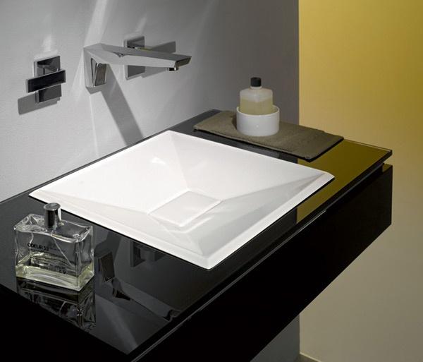Lavabo quadrato da incasso eb kf alape - Lavabo bagno da incasso ...