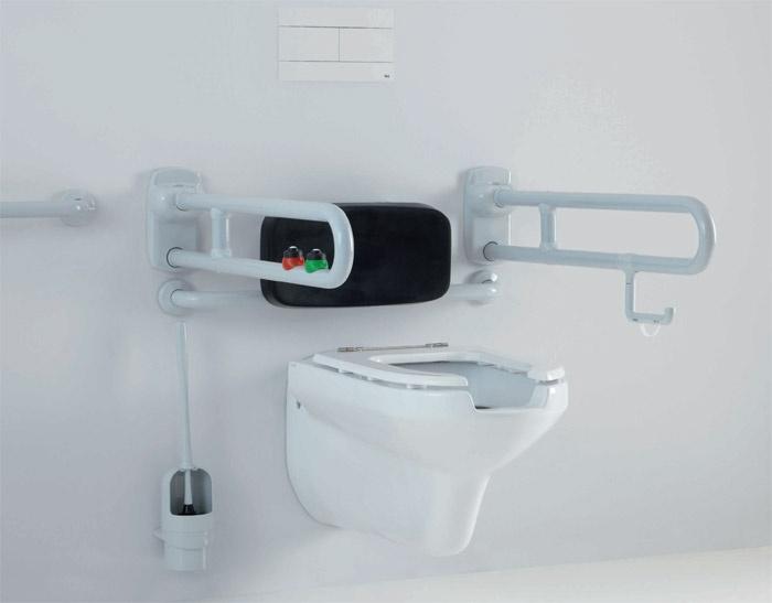 Maniglioni area wc con schienale ponte giulio s p a - Ponte giulio bagno disabili ...