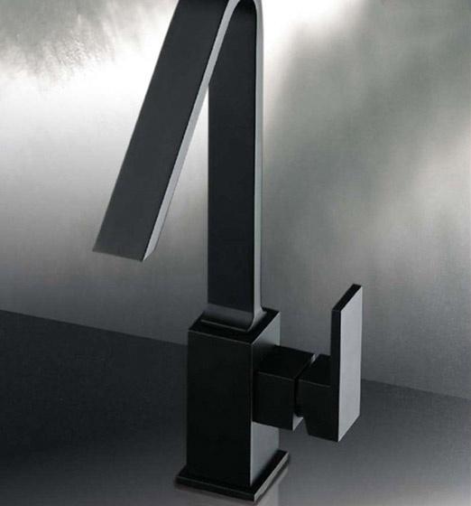 Miscelatore lavabo nero opaco collezione plp - Lavabo nero bagno ...