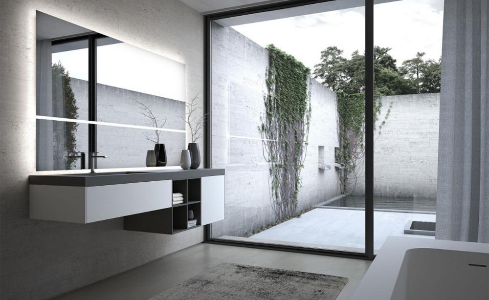 Mobile da bagno sense fenix bianco malè grigio londra ideagroup