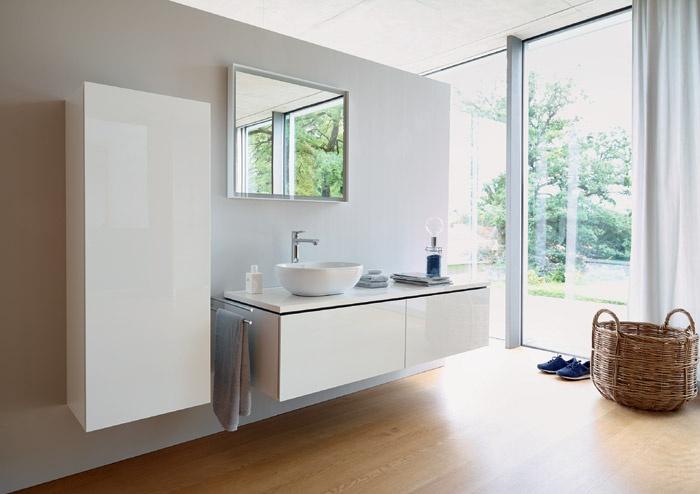 Mobili Da Bagno Bianco Lucido : Mobile bagno design ovale base lavabo sospesa specchio contenitore