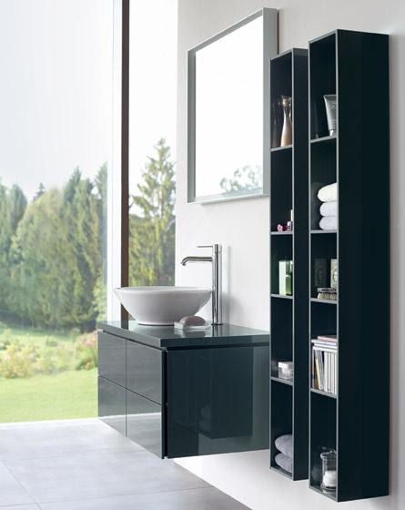 Mobile da bagno sospeso con colonne pensili l cube duravit for Colonne bagno moderne