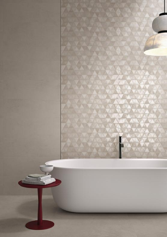 Pavimenti e rivestimenti effetto resina medley greige - Piastrelle effetto resina bagno ...