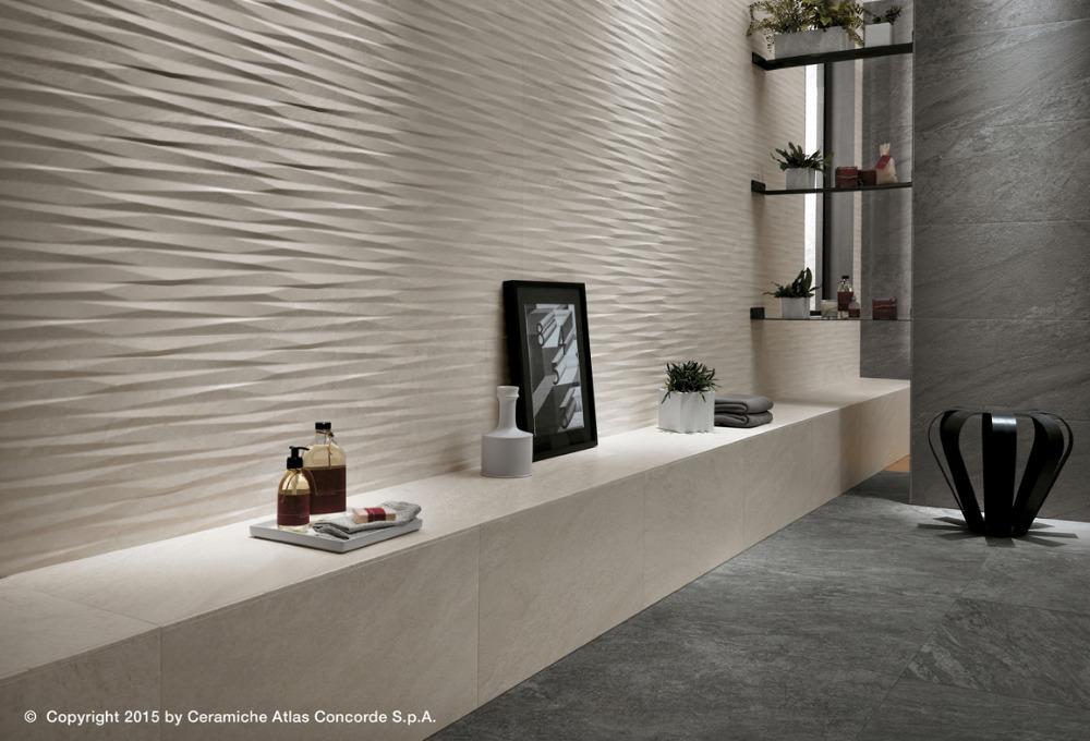 Pavimenti e rivestimenti brave grey 3d blade gypsum atlas concorde - Atlas concorde bagno ...