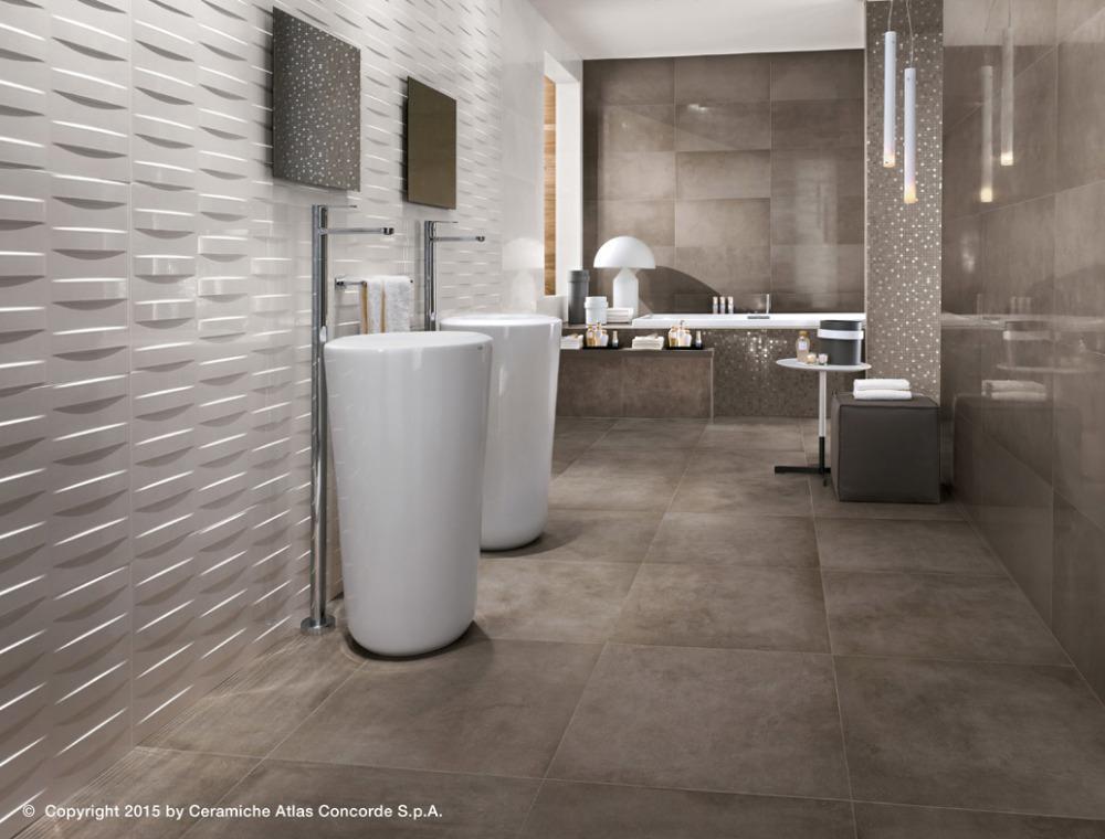 Pavimenti e rivestimenti dwell greige off white atlas concorde - Atlas concorde bagno ...