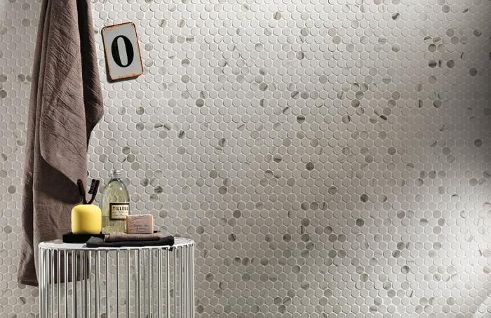 Pavimenti e rivestimenti effetto marmo roma mosaico round