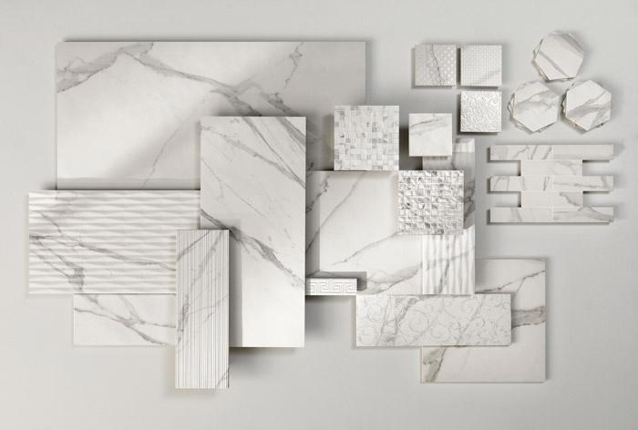 Pavimenti e rivestimenti effetto marmo Roma - Mosaico Round ...