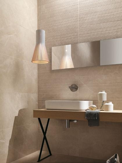 Pavimenti e rivestimenti effetto marmo roma pietra fap ceramiche - Bagno effetto marmo ...