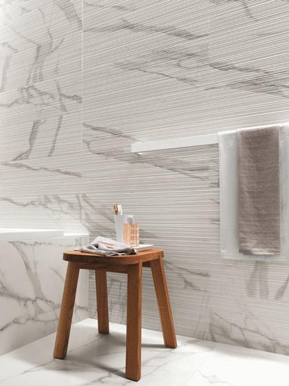 Pavimenti e rivestimenti effetto marmo Roma - Statuario | Fap Ceramiche