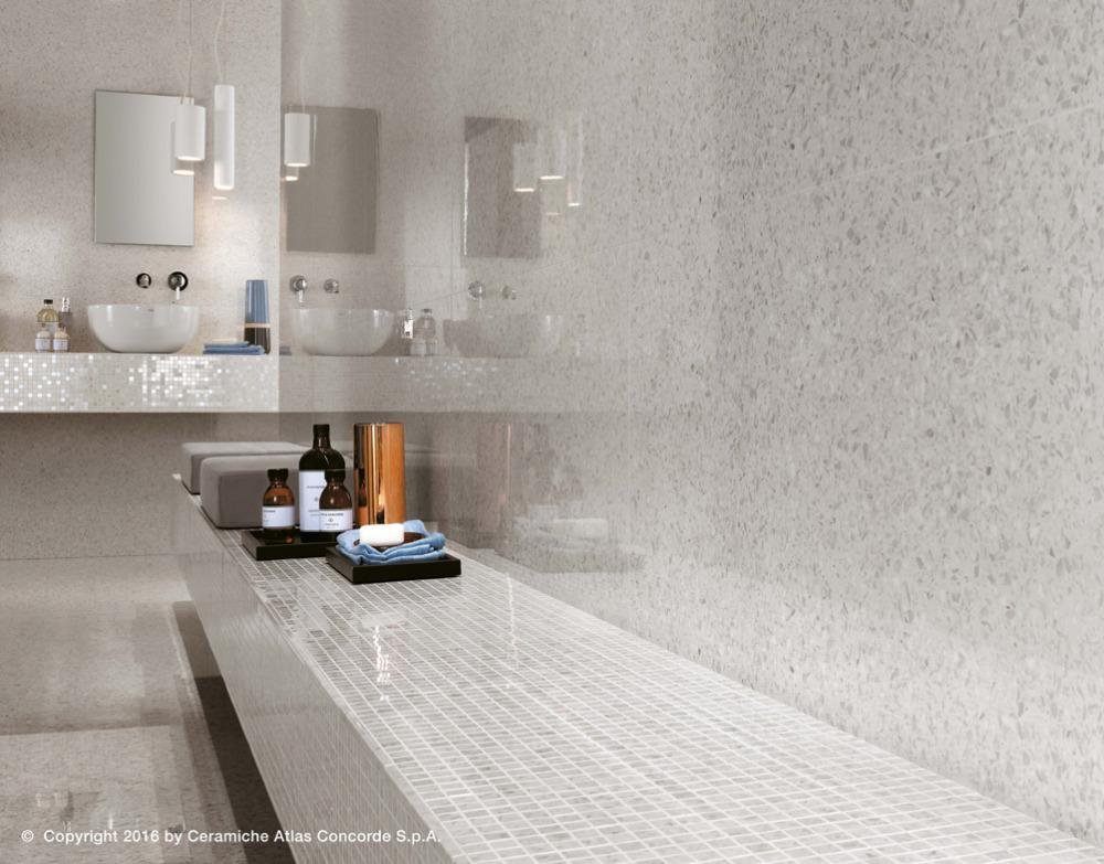 Pavimenti e rivestimenti effetto marmo veneziano marvel gems blue white atlas concorde - Atlas concorde bagno ...