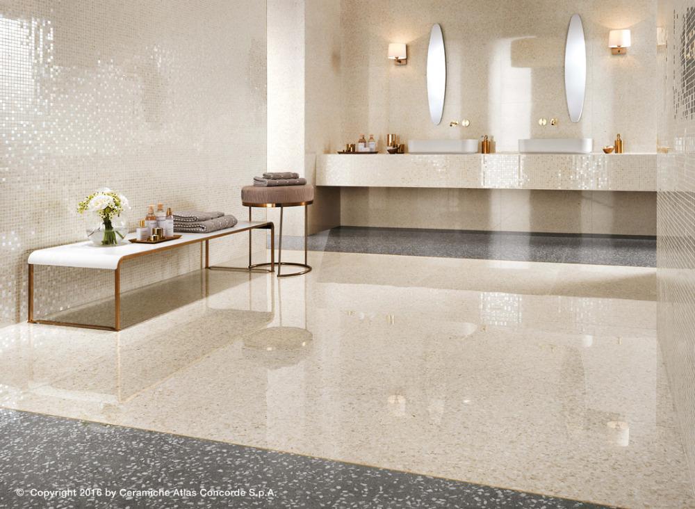 Pavimenti e rivestimenti effetto marmo veneziano marvel gems cream atlas concorde - Atlas concorde bagno ...