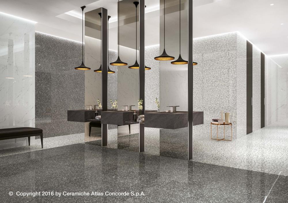 Pavimenti e rivestimenti effetto marmo veneziano marvel gems grey palladiana atlas concorde - Atlas concorde bagno ...