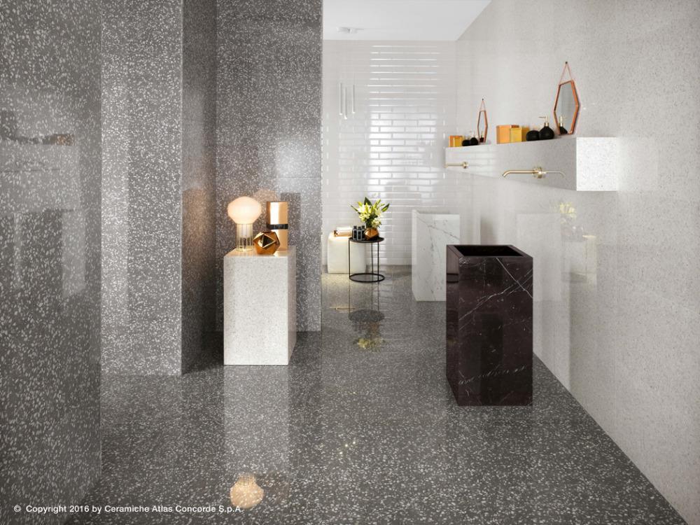 Pavimenti e rivestimenti effetto marmo veneziano marvel gems white grey atlas concorde - Pavimenti e piastrelle bagno ...