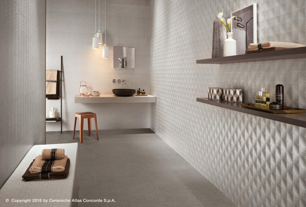 Pavimenti e rivestimenti effetto tessuto room pearl atlas concorde