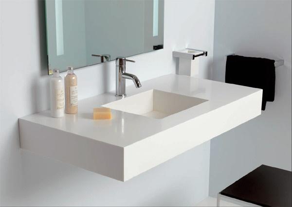 Piano con lavabo sottopiano rettangolare Midioplan® | Ponte Giulio ...