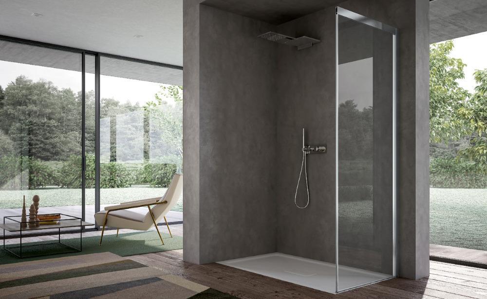 Piatto doccia con porta scorrevole focus disenia - Disenia piatto doccia ...
