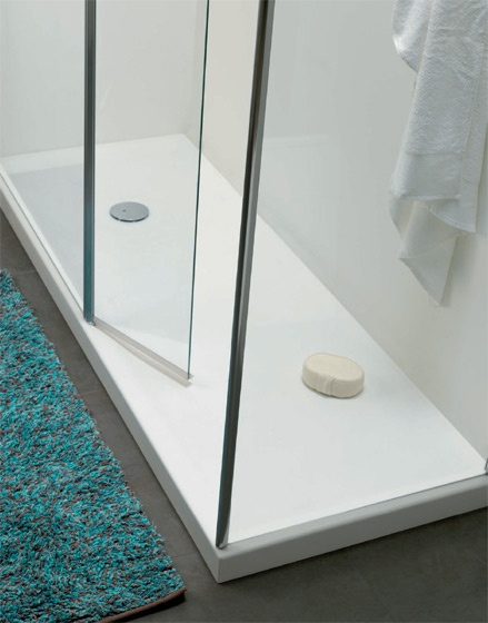 Piatto doccia rettangolare in pietra acrilica midioplan for Piatto doccia rettangolare