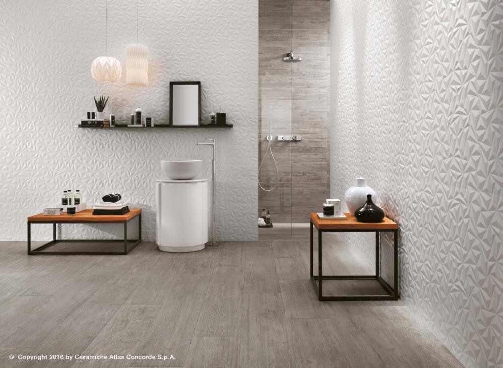 Rivestimento 3d wall design angle white atlas concorde