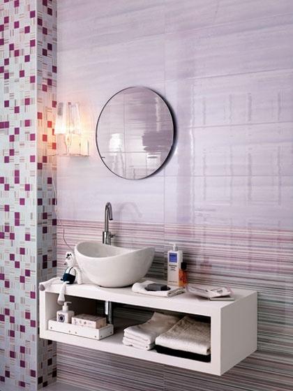 Rivestimenti bagno collezione sole color glicine fap - Fap ceramiche bagno ...
