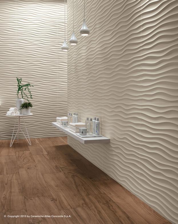 Rivestimento ceramico 3d wall design dune atlas concorde for Azulejo para pared de sala
