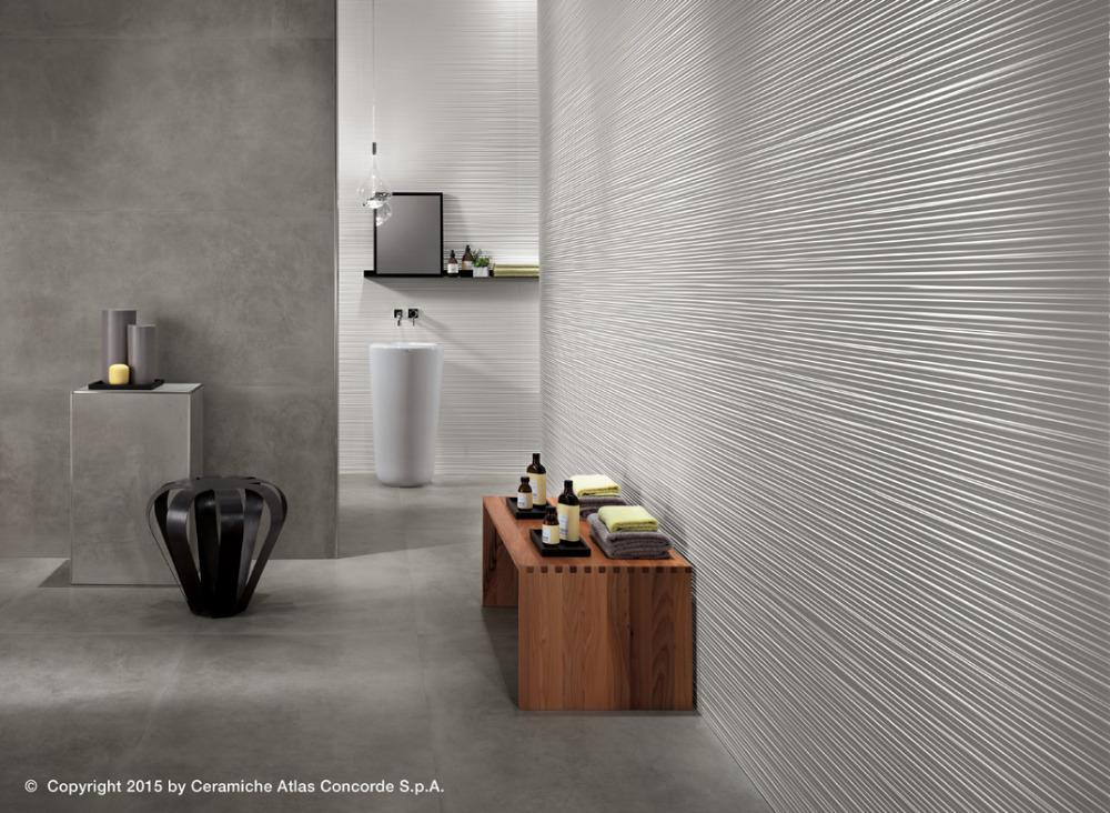 Rivestimento in pasta bianca 3d wall design line white dwell gray