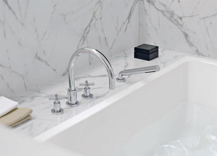 Rubinetteria vasca da bagno quattro fori tara dornbracht