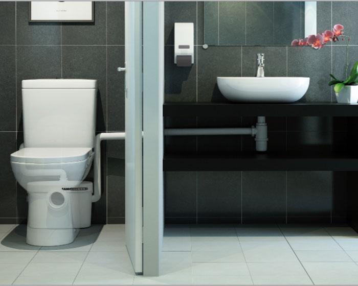 SANIACCESS 2 - trituratore per WC che collega anche un lavabo | Sanitrit