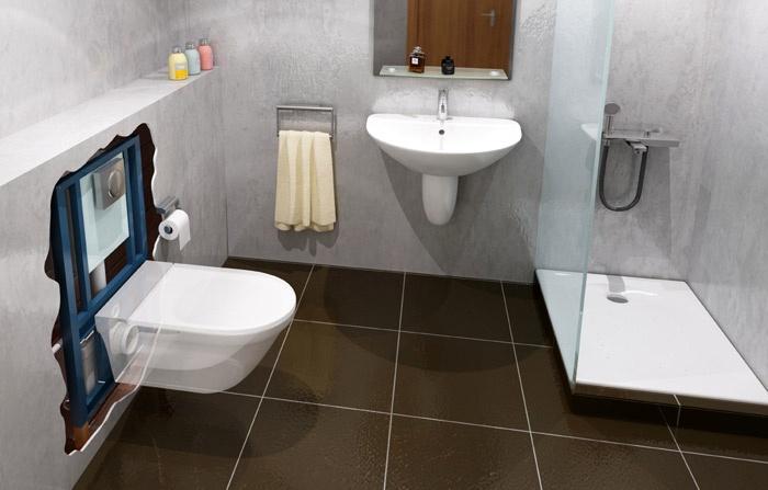 saniwall pro trituratore da incasso parete sanitrit. Black Bedroom Furniture Sets. Home Design Ideas