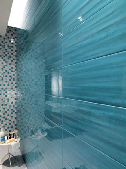 Rivestimenti bagno in pasta bianca sole color azzurro - Mosaico azzurro bagno ...
