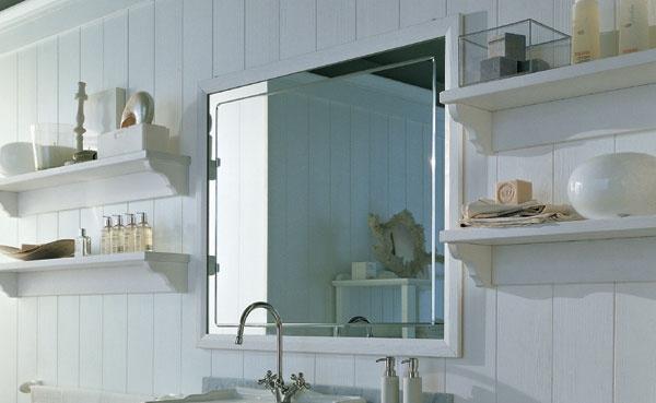 Specchio con cornice nuovo mondo scandola for Cornici per piastrelle bagno