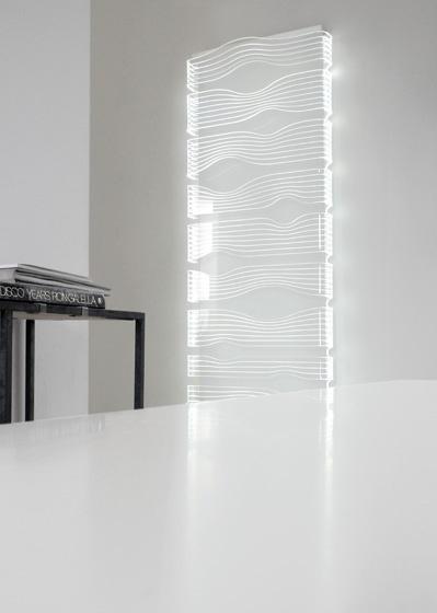 Termoarredo design shine caleido for Termoarredo elettrico bagno design