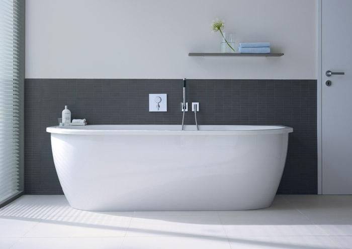 Vasca Da Appoggio : Vasca da bagno con illuminazione led darling new duravit