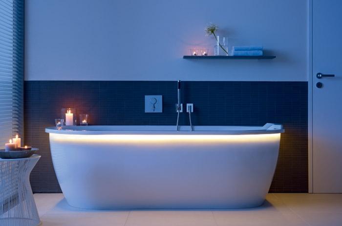 Vasca Da Bagno Vista : Vasca da bagno con illuminazione led darling new duravit