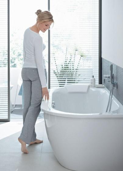 Vasca da bagno con illuminazione led darling new duravit - Vasca da bagno duravit ...