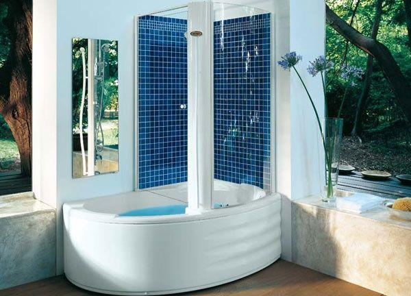 Vasca doccia combinata aulica twin jacuzzi for Vasche da bagno combinate